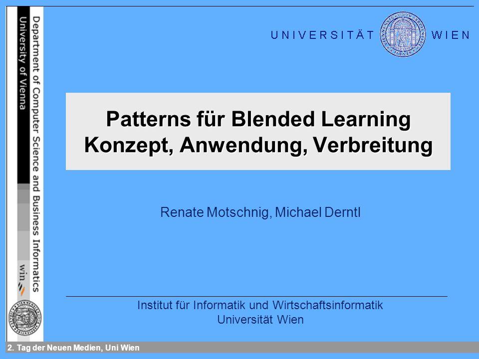 Patterns für Blended Learning Konzept, Anwendung, Verbreitung