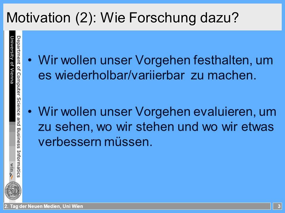 Motivation (2): Wie Forschung dazu