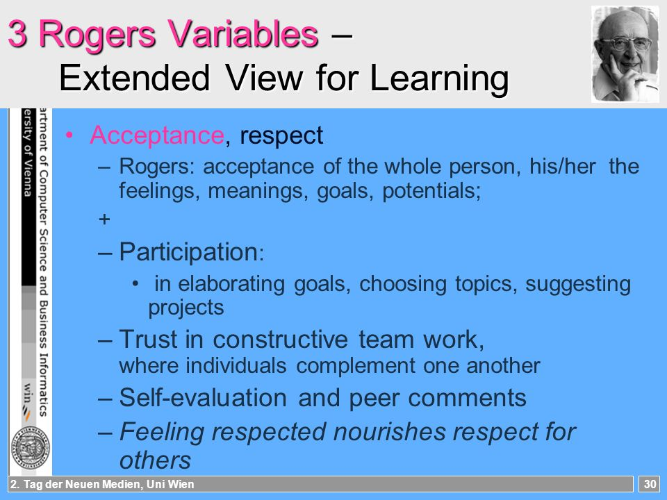 3 Rogers Variables – Extended View for Learning