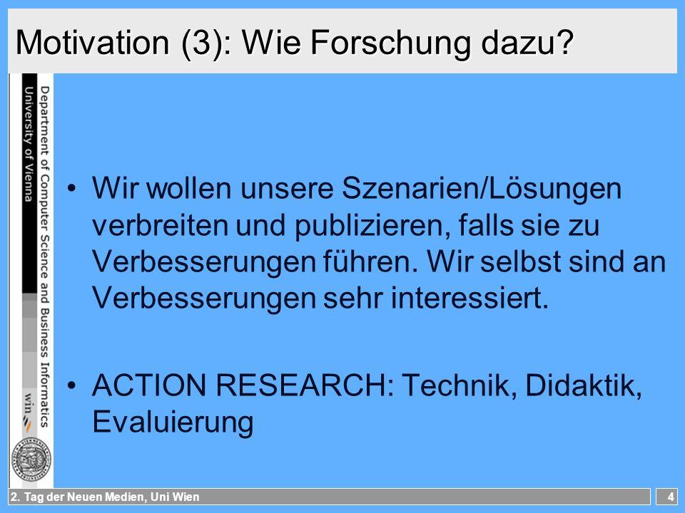 Motivation (3): Wie Forschung dazu