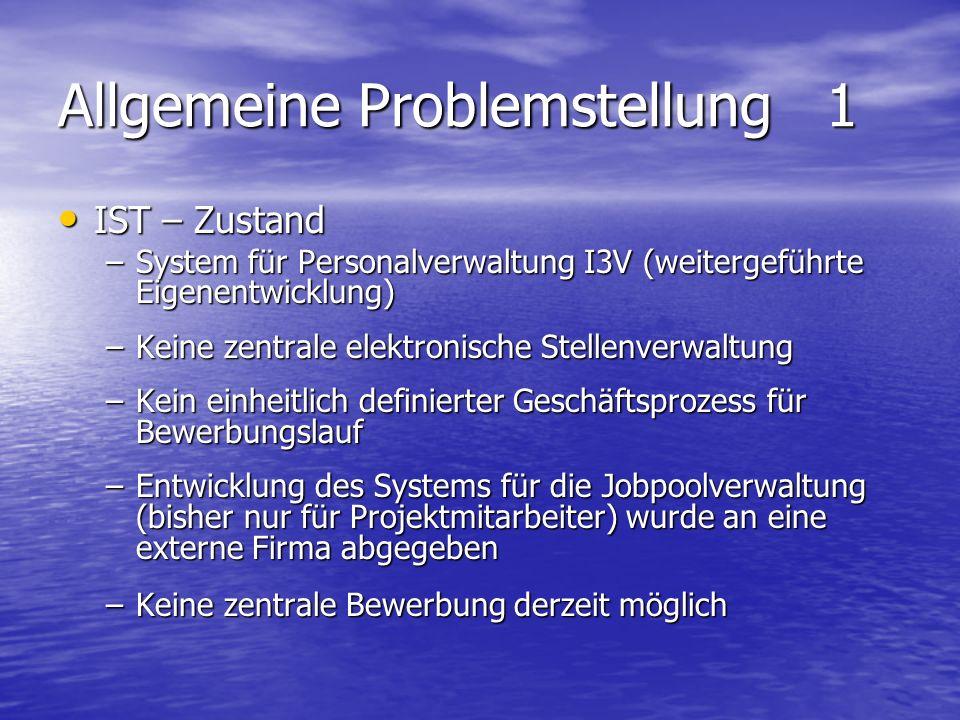 Allgemeine Problemstellung 1