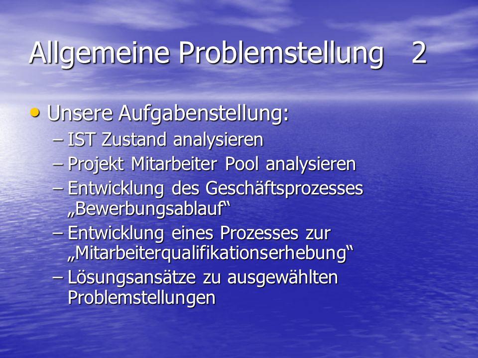 Allgemeine Problemstellung 2