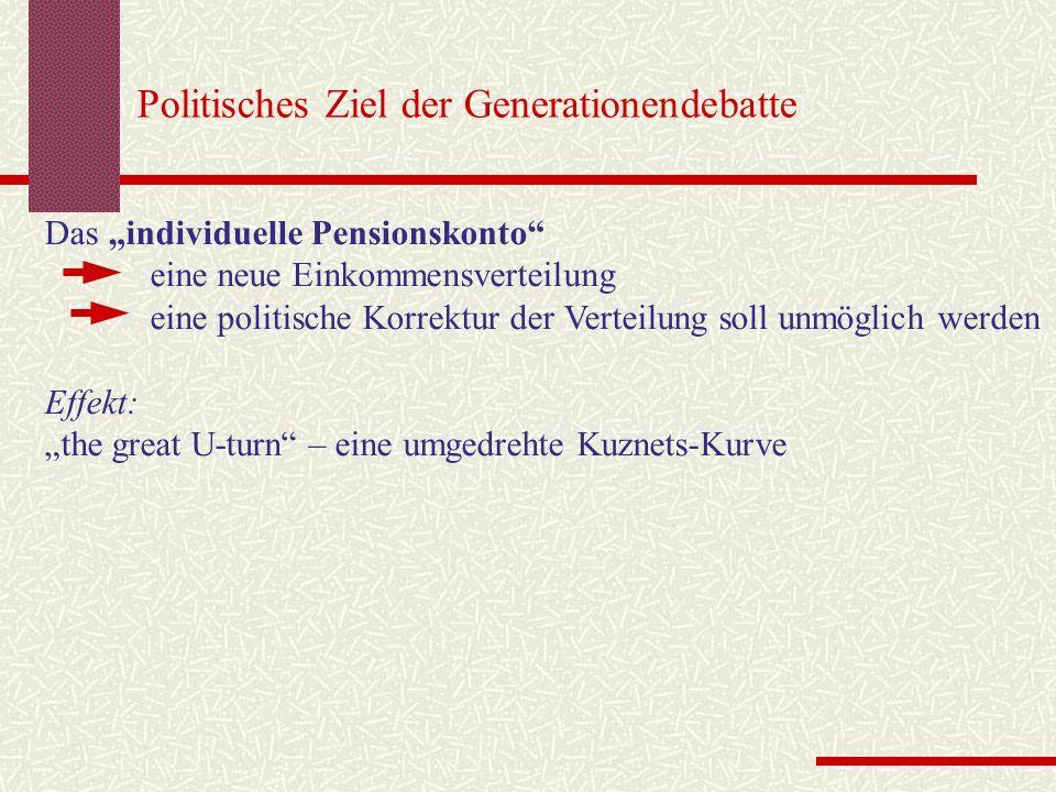 Politisches Ziel der Generationendebatte