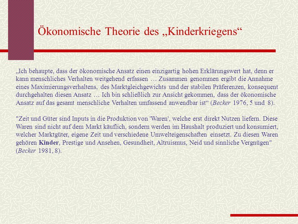 "Ökonomische Theorie des ""Kinderkriegens"