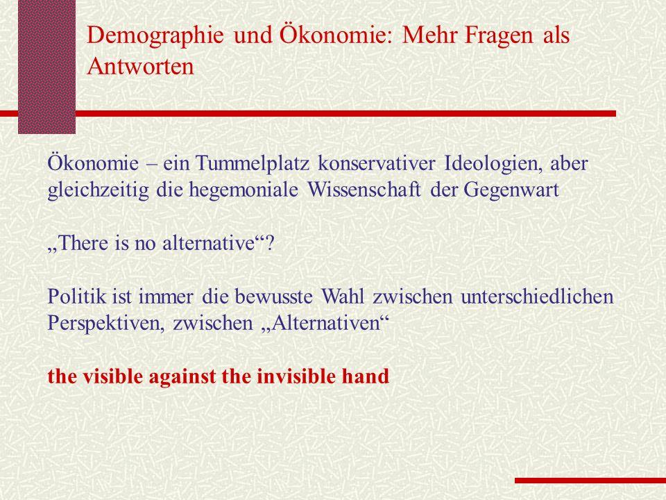Demographie und Ökonomie: Mehr Fragen als Antworten
