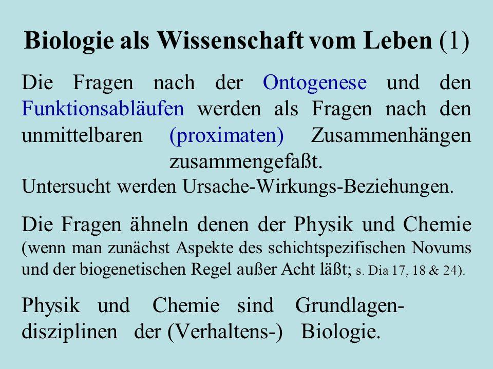 Biologie als Wissenschaft vom Leben (1)