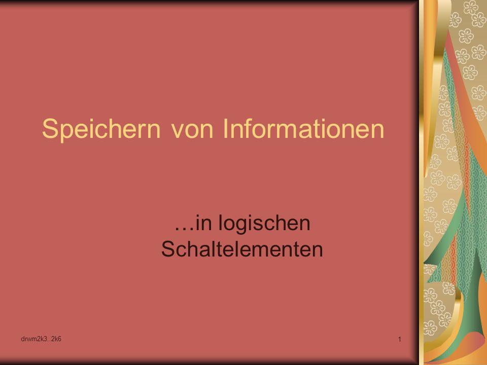 Speichern von Informationen