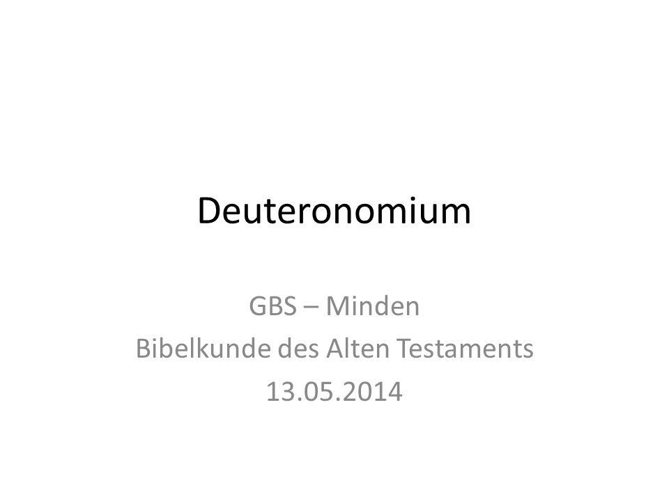 GBS – Minden Bibelkunde des Alten Testaments 13.05.2014