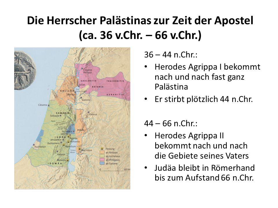 Die Herrscher Palästinas zur Zeit der Apostel (ca. 36 v. Chr. – 66 v