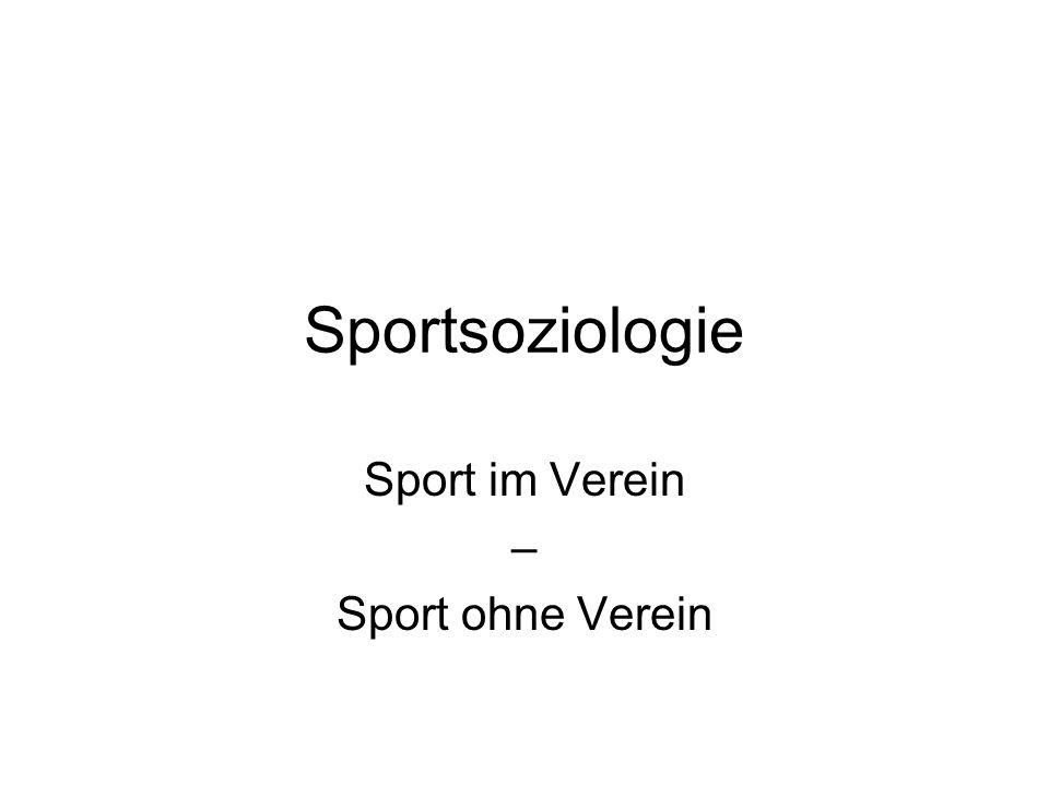 Sport im Verein – Sport ohne Verein
