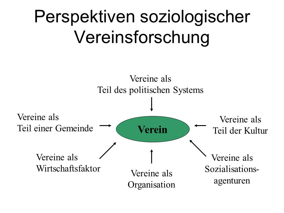 Perspektiven soziologischer Vereinsforschung