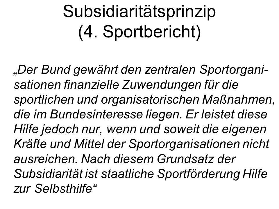 Subsidiaritätsprinzip (4. Sportbericht)