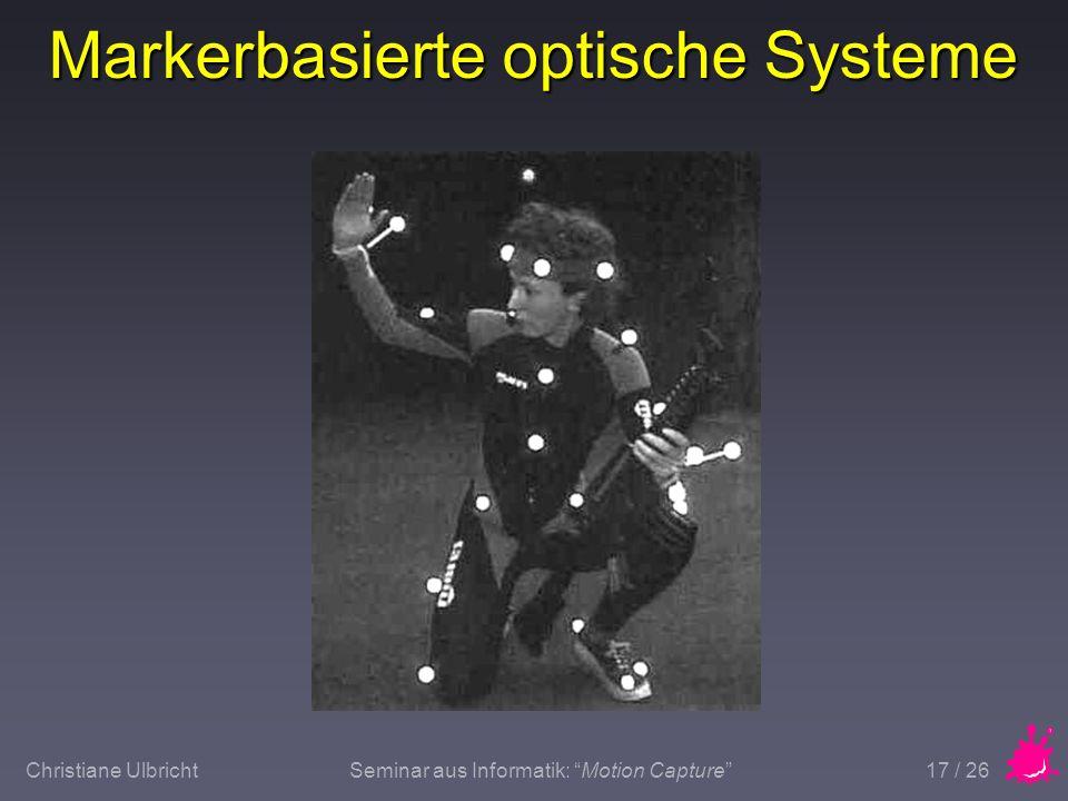 Markerbasierte optische Systeme