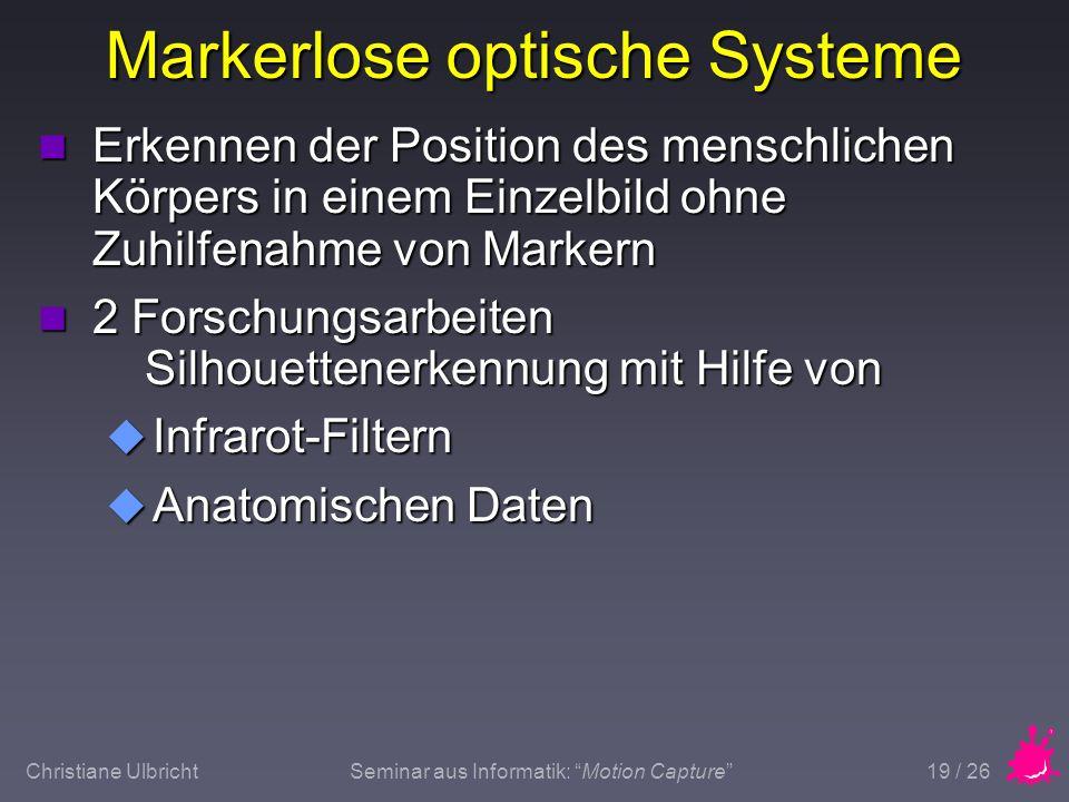 Markerlose optische Systeme