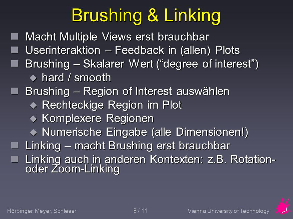 Brushing & Linking Macht Multiple Views erst brauchbar