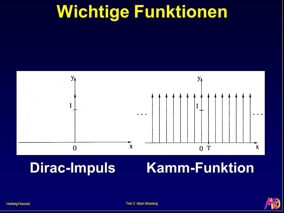 Wichtige Funktionen Dirac-Impuls Kamm-Funktion Teil 3: über Aliasing