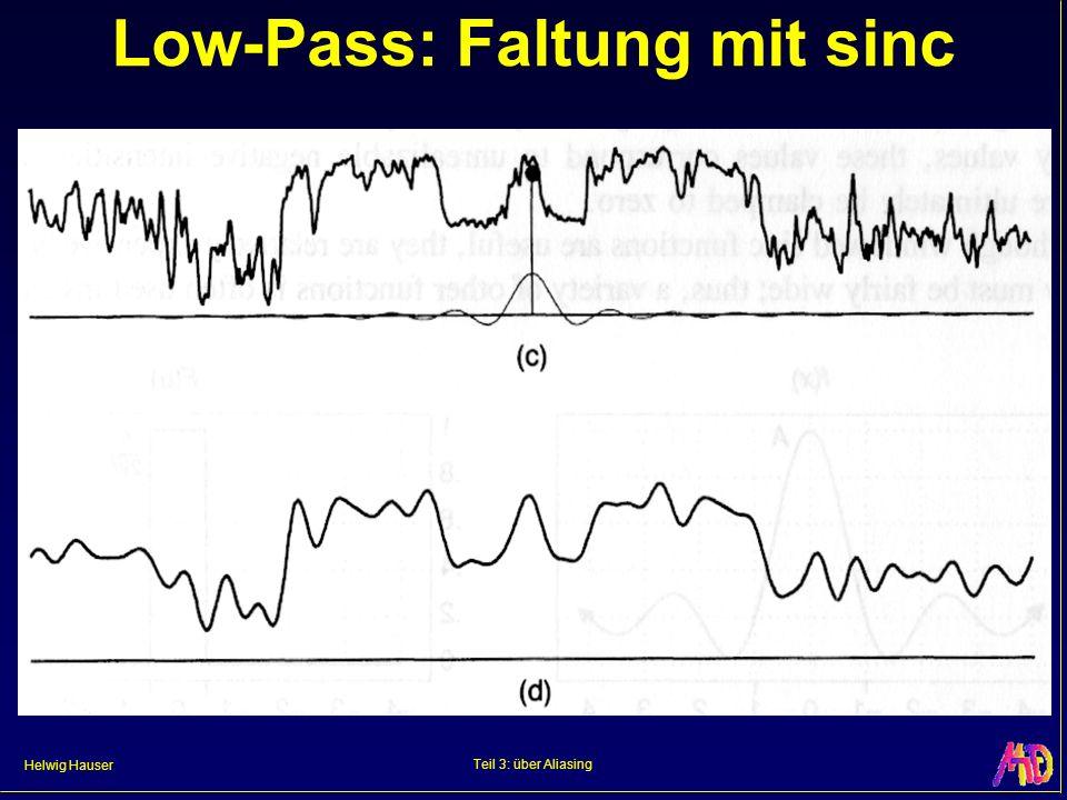 Low-Pass: Faltung mit sinc