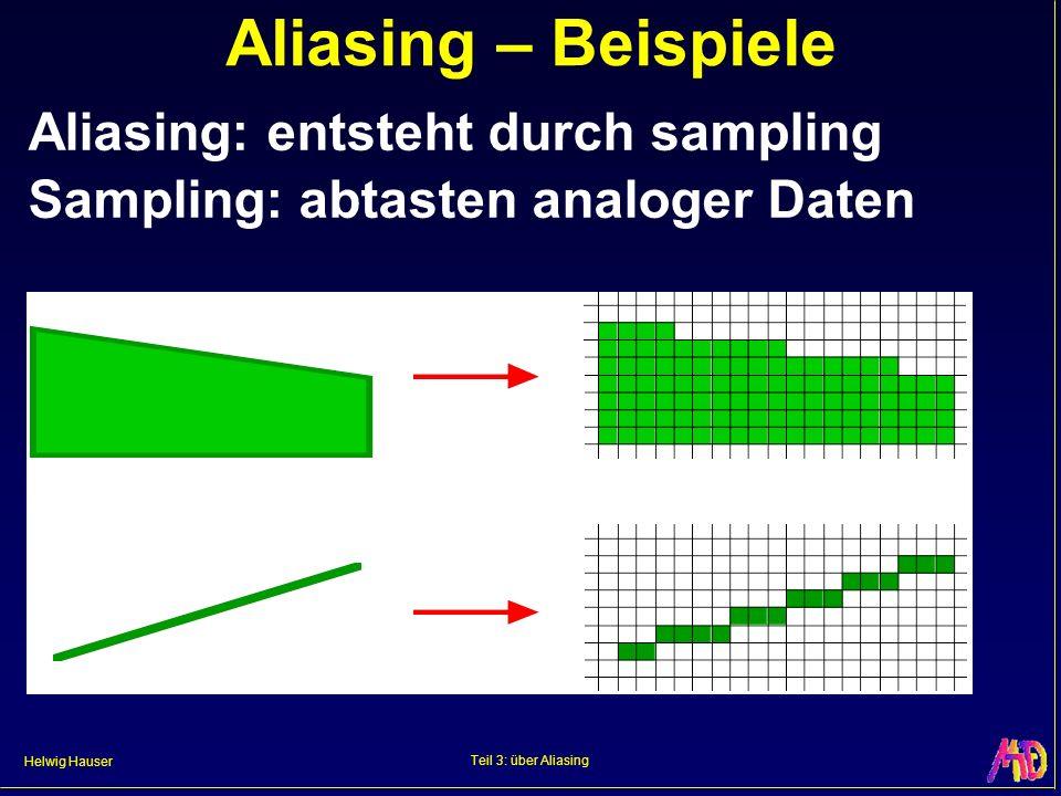Aliasing – Beispiele Aliasing: entsteht durch sampling