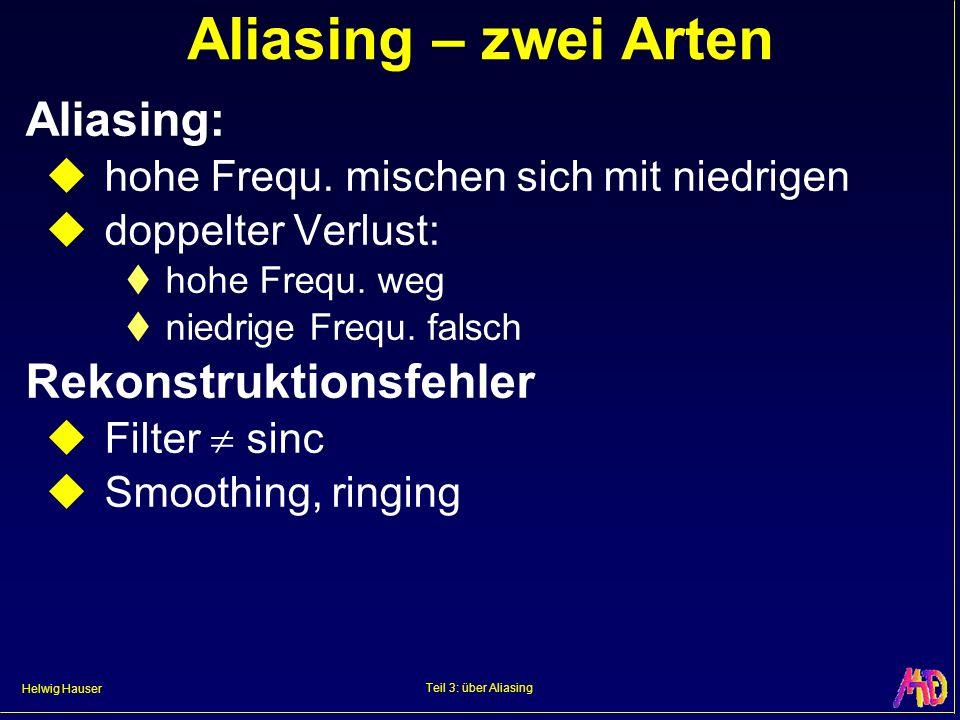 Aliasing – zwei Arten Aliasing: Rekonstruktionsfehler