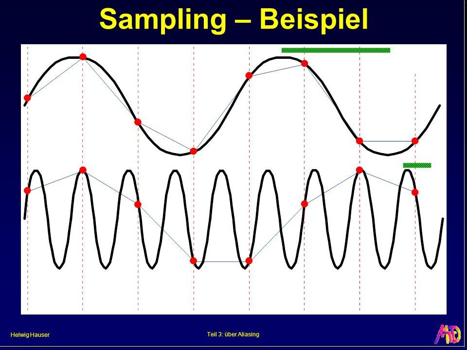 Sampling – Beispiel Teil 3: über Aliasing