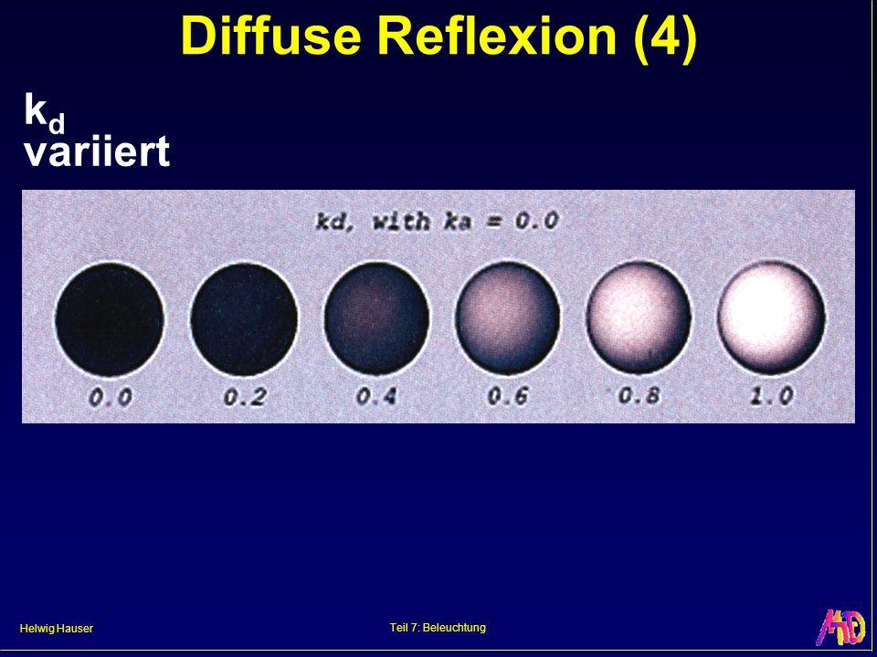 Diffuse Reflexion (4) kd variiert Teil 7: Beleuchtung