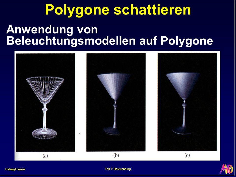 Polygone schattieren Anwendung von Beleuchtungsmodellen auf Polygone