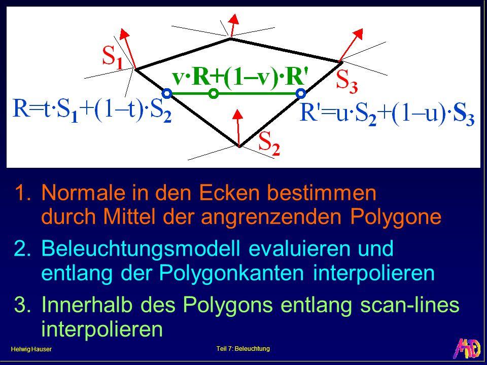 3. Innerhalb des Polygons entlang scan-lines interpolieren