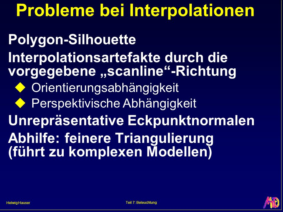 Probleme bei Interpolationen
