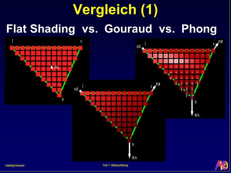 Vergleich (1) Flat Shading vs. Gouraud vs. Phong Teil 7: Beleuchtung
