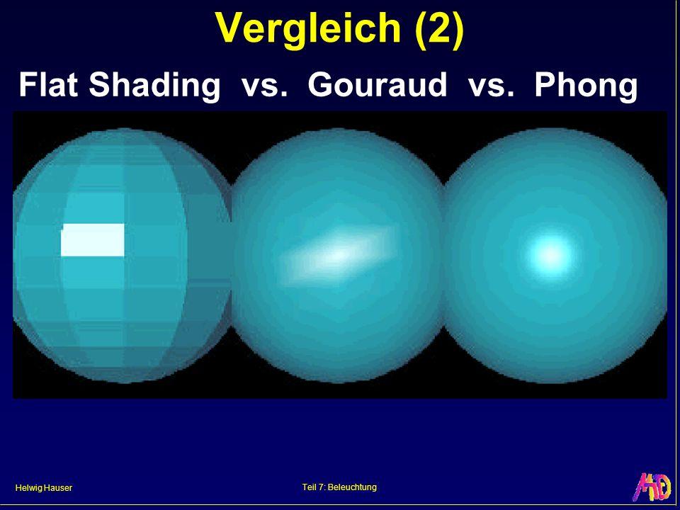 Vergleich (2) Flat Shading vs. Gouraud vs. Phong Teil 7: Beleuchtung
