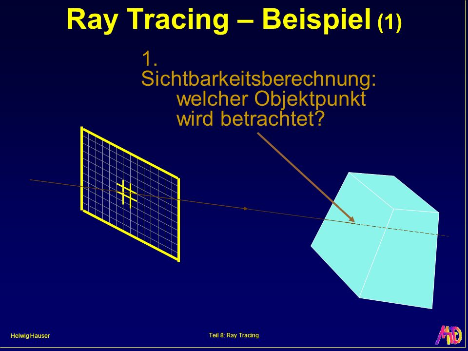 Ray Tracing – Beispiel (1)