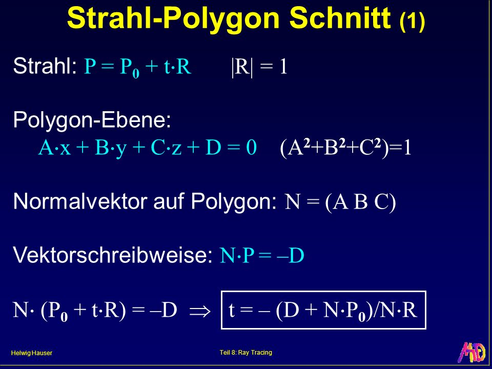 Strahl-Polygon Schnitt (1)