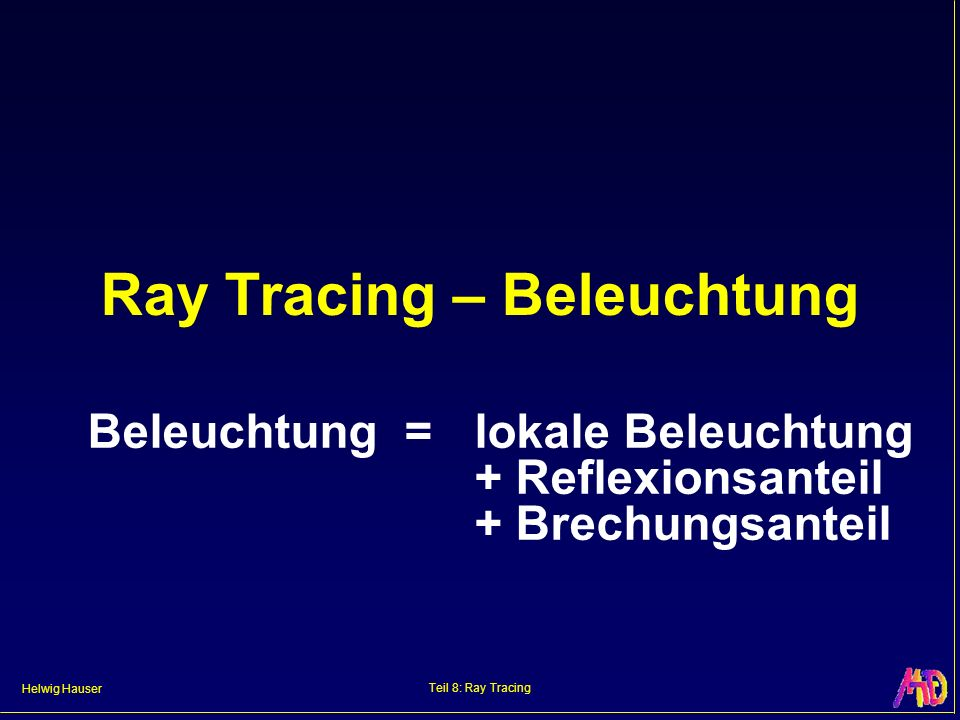 Ray Tracing – Beleuchtung