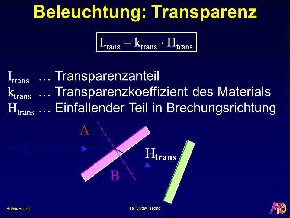 Beleuchtung: Transparenz
