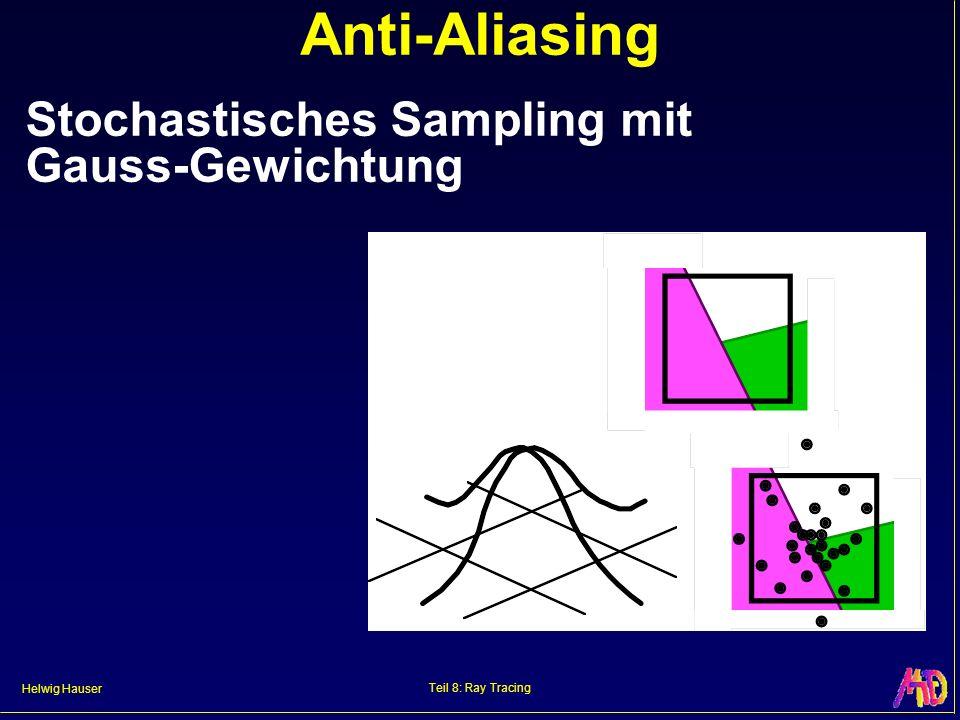 Anti-Aliasing Stochastisches Sampling mit Gauss-Gewichtung