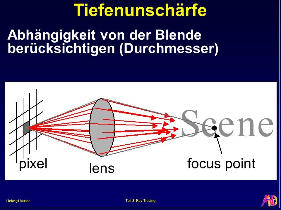 Tiefenunschärfe Abhängigkeit von der Blende berücksichtigen (Durchmesser) pixel. lens. focus point.