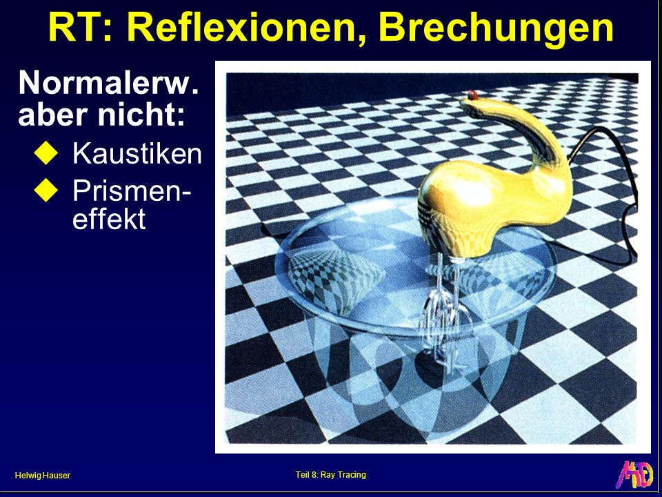RT: Reflexionen, Brechungen