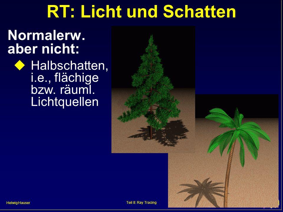 RT: Licht und Schatten Normalerw. aber nicht: