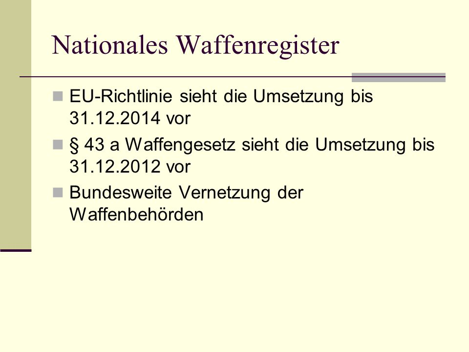 Nationales Waffenregister