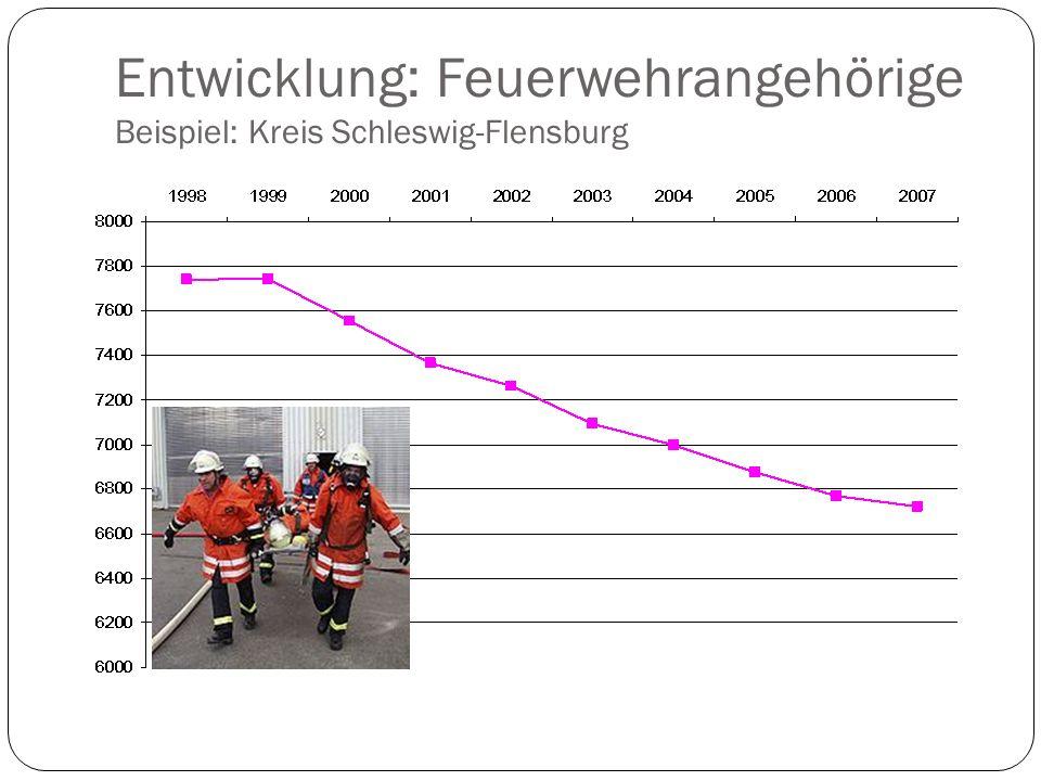 Entwicklung: Feuerwehrangehörige Beispiel: Kreis Schleswig-Flensburg