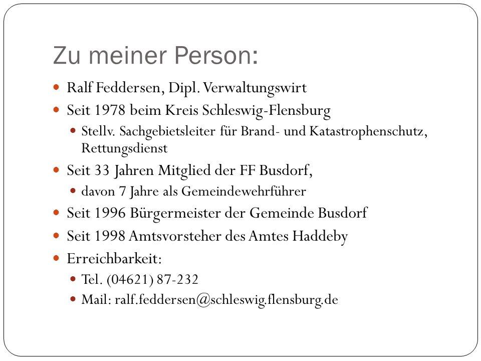 Zu meiner Person: Ralf Feddersen, Dipl. Verwaltungswirt