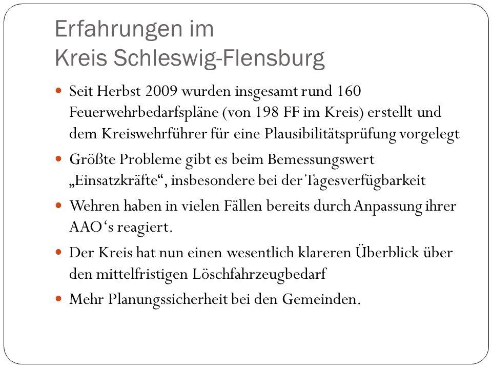 Erfahrungen im Kreis Schleswig-Flensburg