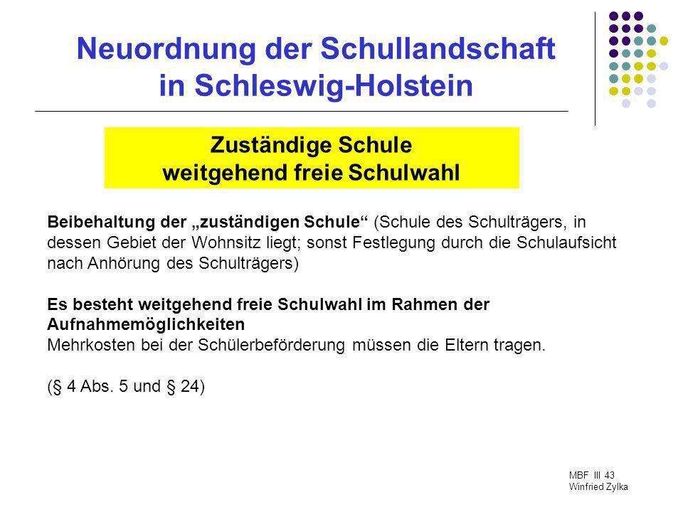 Neuordnung der Schullandschaft in Schleswig-Holstein