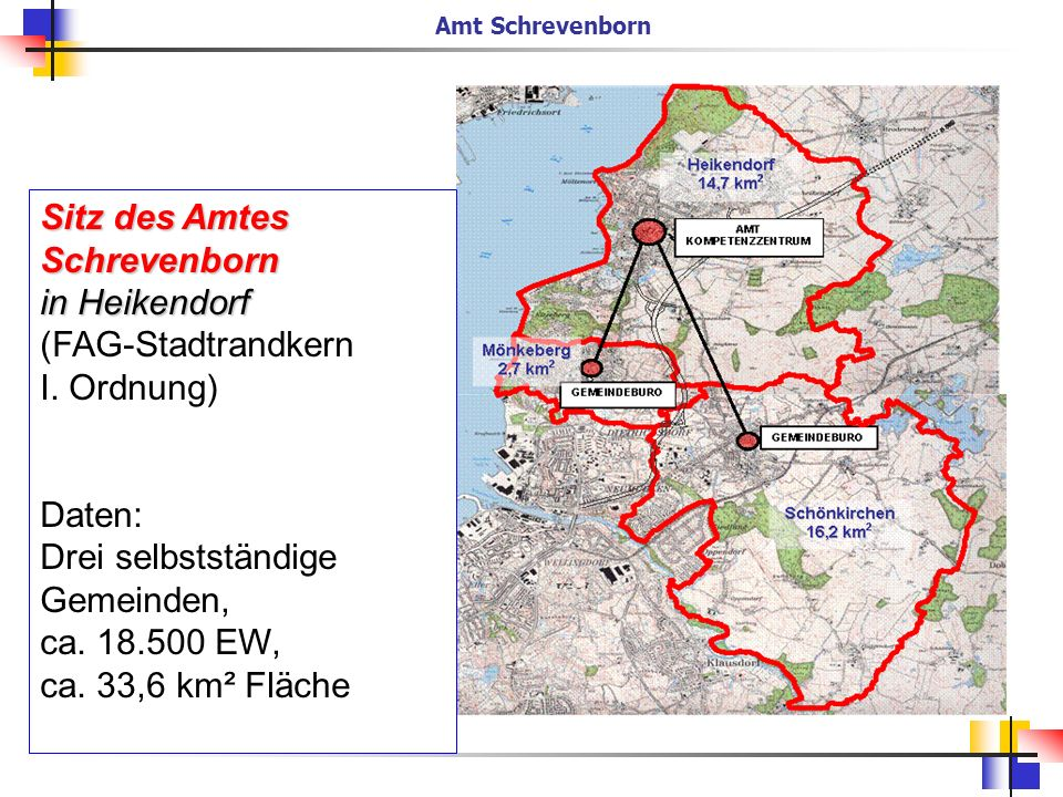 Sitz des Amtes Schrevenborn in Heikendorf (FAG-Stadtrandkern