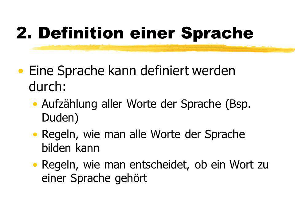 2. Definition einer Sprache