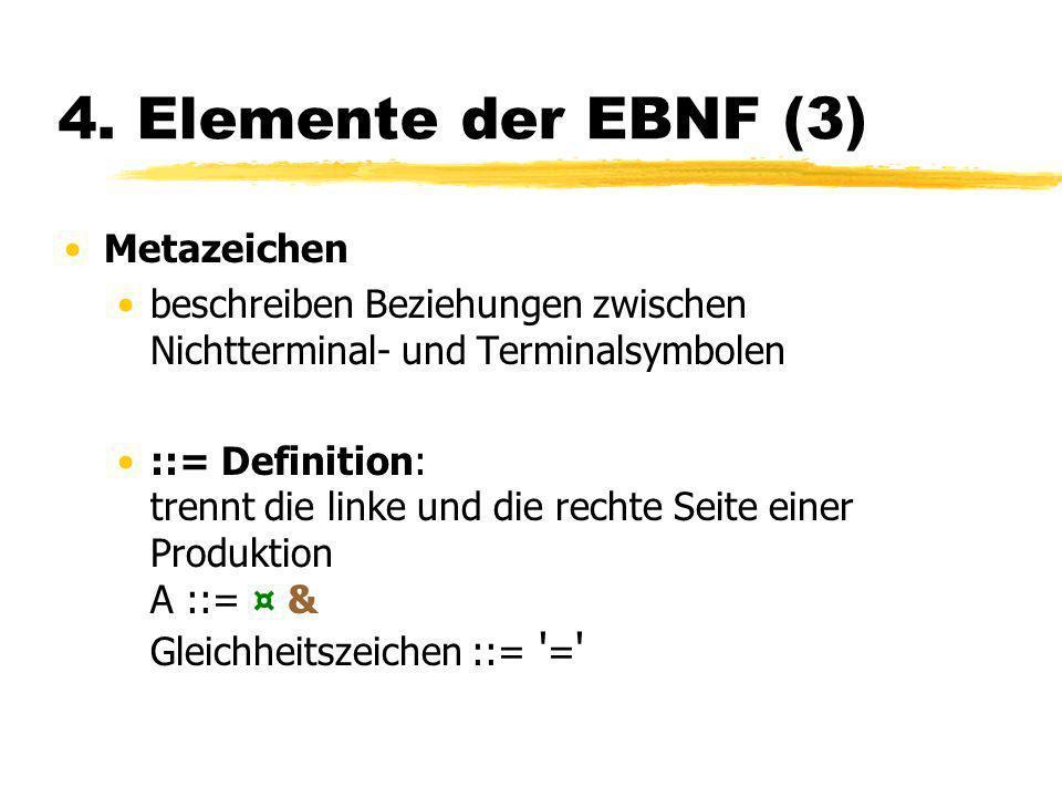 4. Elemente der EBNF (3) Metazeichen