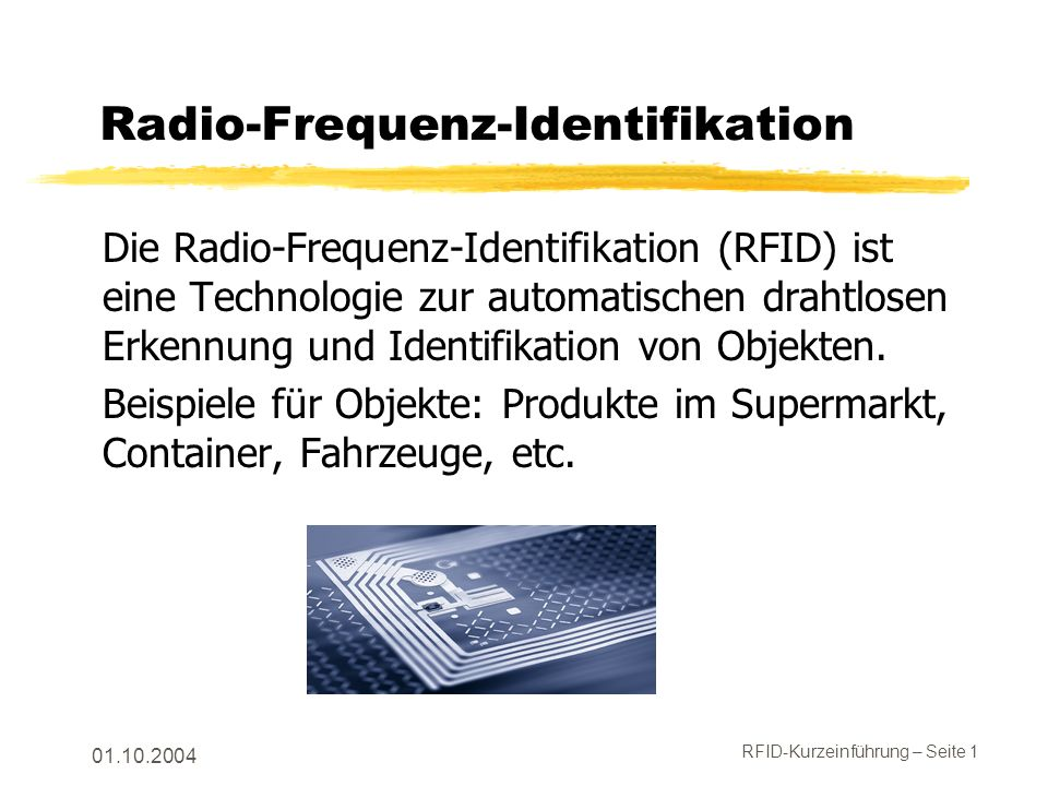 Radio-Frequenz-Identifikation