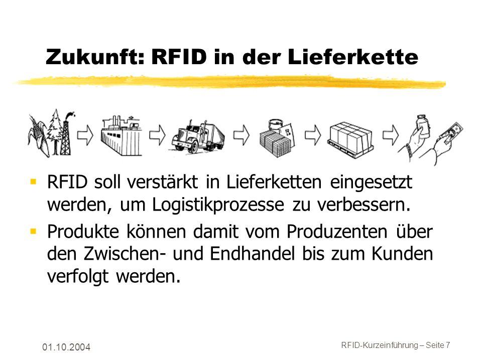 Zukunft: RFID in der Lieferkette