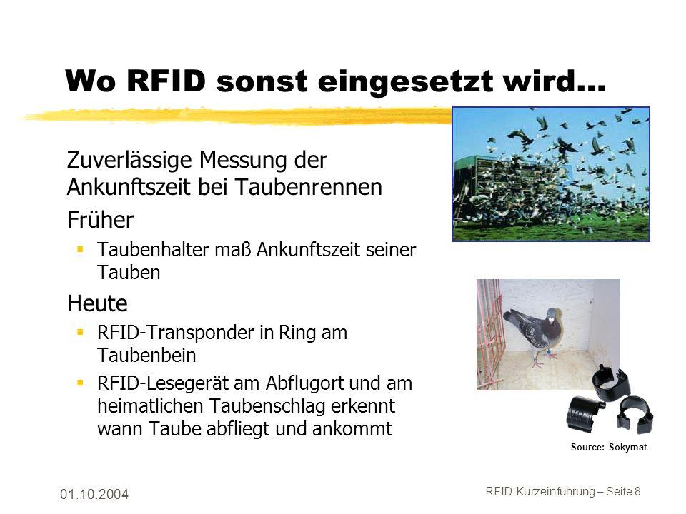 Wo RFID sonst eingesetzt wird…