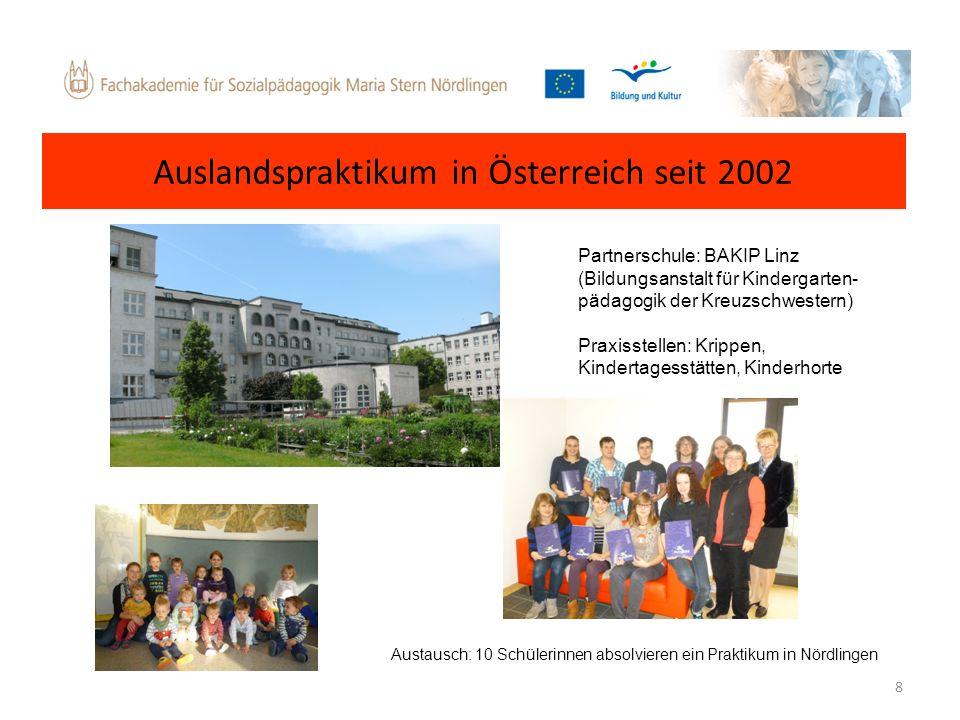 Auslandspraktikum in Österreich seit 2002